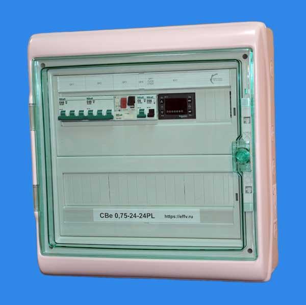 Shchit upravleniya cbe sistemoy s elektricheskim kaloriferom.jpg